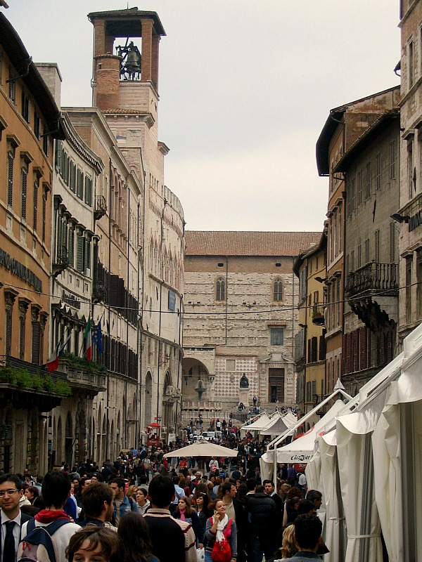 Perugia during Eurochocolate