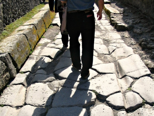 Doing the legwork at Pompeii