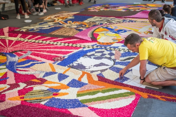 Infiorata of Spello in Umbria