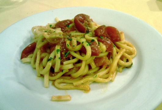 Our pasta dish from Trattoria del Porto