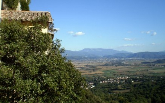 View of Rieti from Sanctuary of Saint Francis in Greccio