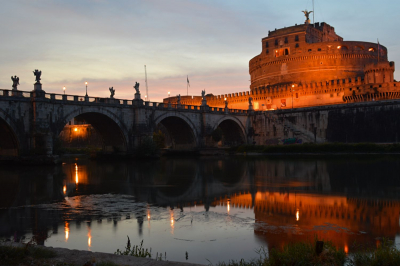 A Look at the River Tiber in Rome