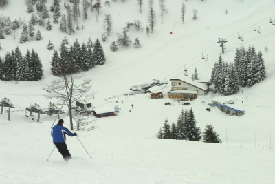 On the piste in Piancavallo