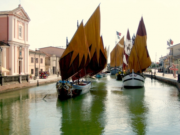 Canal opposite the Museo della Marineria in Cesenatico