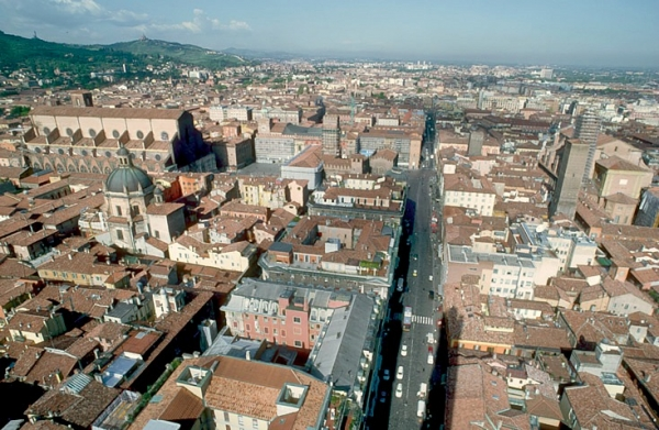 Aerial voew of bologna