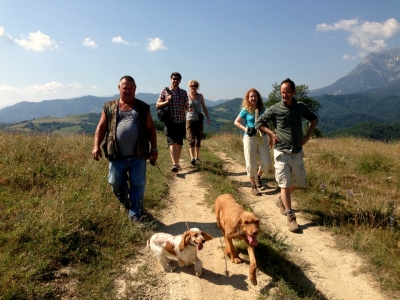 Truffle hunting in Le Marche