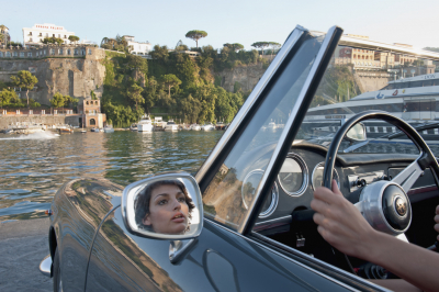 Classic Italian Sports Car Hire along the Amalfi Coast from Sorrento